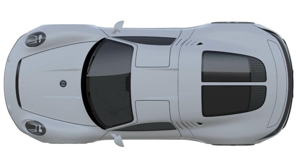 ポルシェが2月2日に提出した特許画像