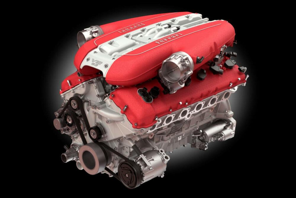 フェラーリ 812スーパーファストのV12エンジン