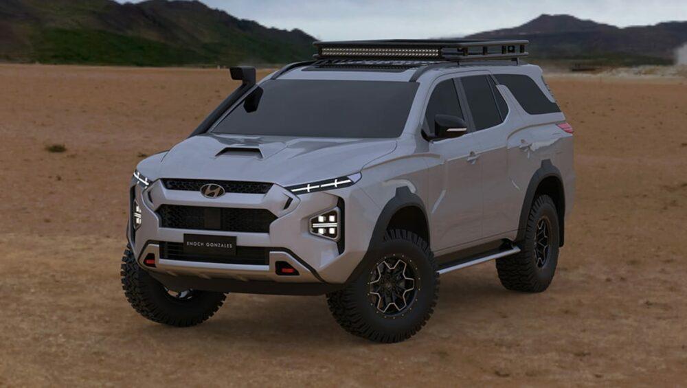 ヒュンダイ新型SUVのレンダリングCG
