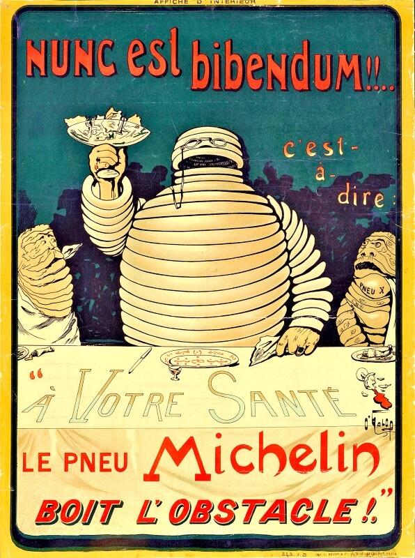 1898年に制作されたビバンダムのポスター