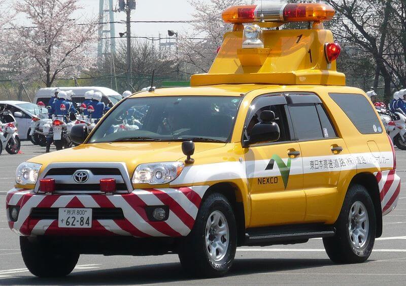 NEXCO東日本管内を担当するパトロールカー