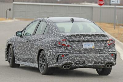 スバル次期新型WRXのテスト車両が目撃される!2022年前に発売か?