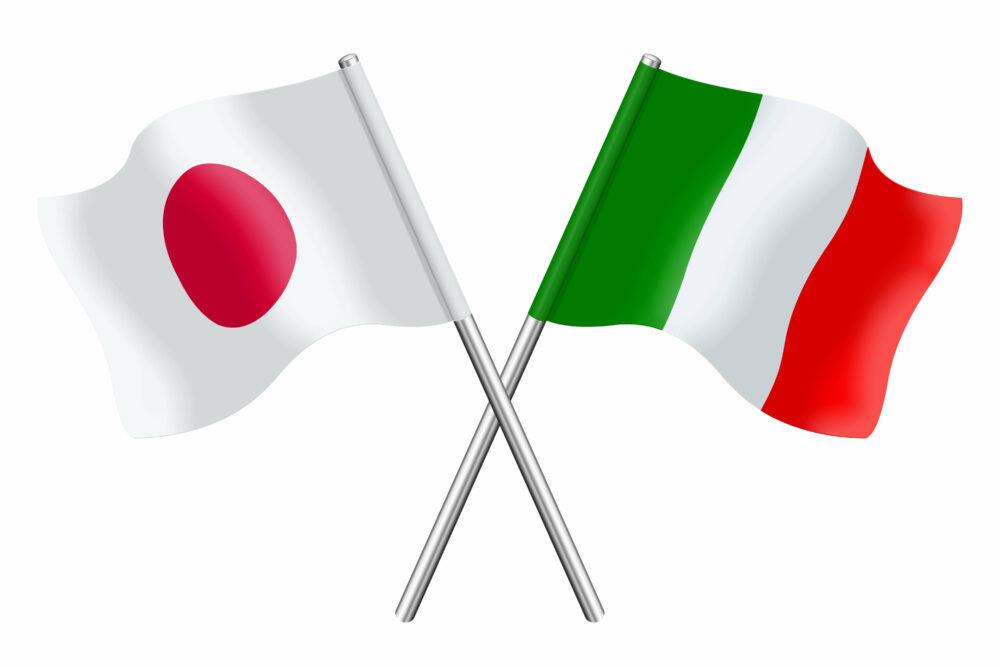 日本 イタリア 国旗