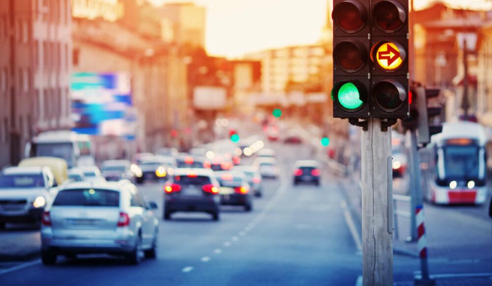 交通灯と交通機関