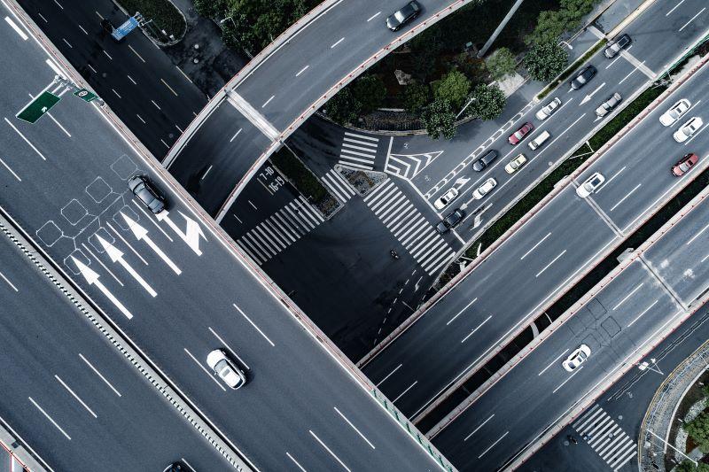 道路の航空写真