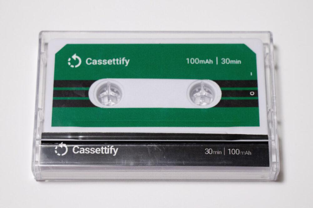 ケースに入ったCassettifyの表面