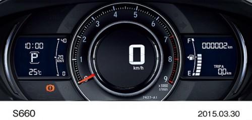 ホンダ S660 2015年型 DEFAULTモード時メーター
