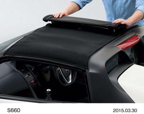 ホンダ S660 2015年型 ロールトップ脱着イメージ