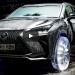 レクサスNXが氷のタイヤ・ホイールで走行!透明の光るタイヤが幻想的!