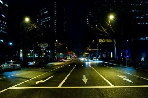 夜の道路 ドライブ