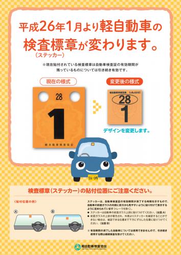 検査標章 軽自動車