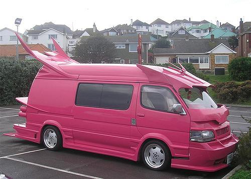 バニングカー ピンク