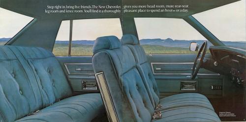 シボレー カプリス 4ドア 内装 1977年型