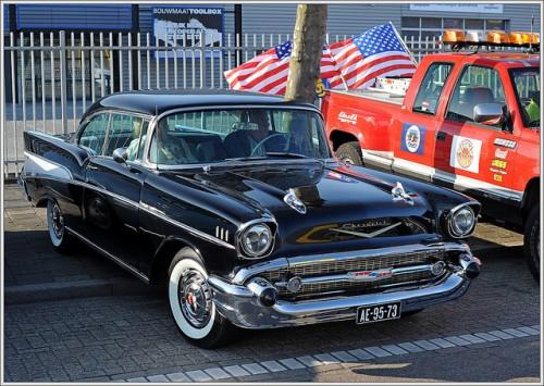 シボレー ベルエア 黒 1957年型