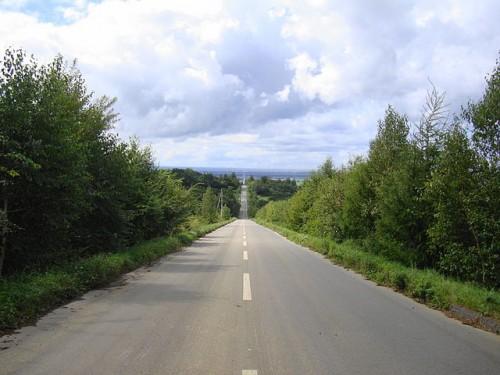北海道 天に続く道