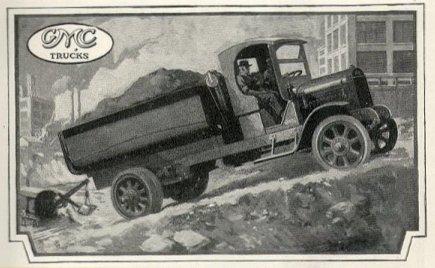 GMC 1919年のトラック広告