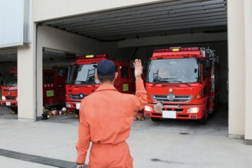 消防署 消防車庫 緊急車両