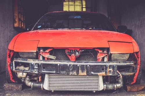 日産 180SX 事故車