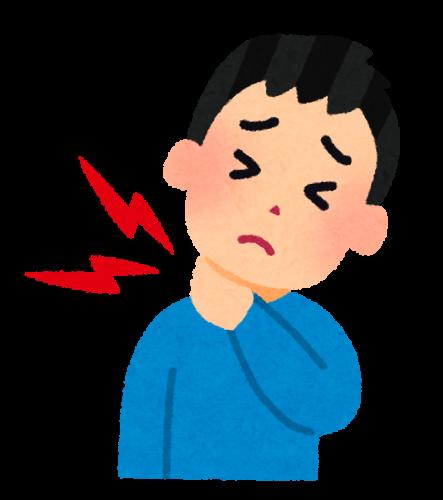 首の痛み ムチ打ち症のイラスト