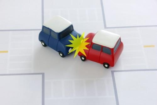 十字路での衝突