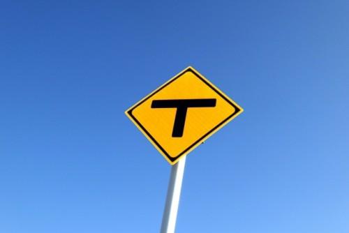 T字路 標識