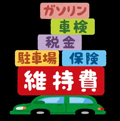 維持費(メンテナンス費用)が安い自動車のランキング