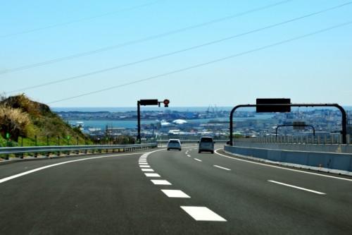 高速道路 合流 破線