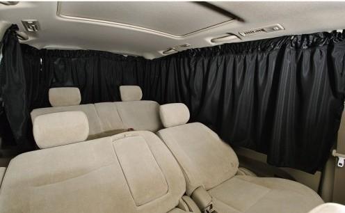 夏の車中泊の暑さ対策グッズ:BONFORM 車用カーテン