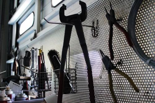 整備工場 工具の画像