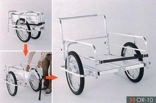 HONKOアルミ製折りたたみリアカーOR-10