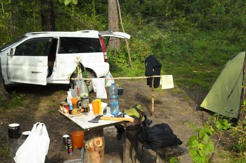 車中泊 夏 キャンプ