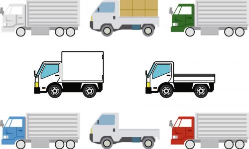 トラック数台