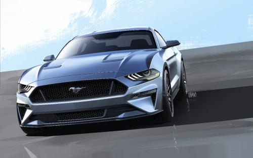2018 新型 フォード・マスタング スケッチ