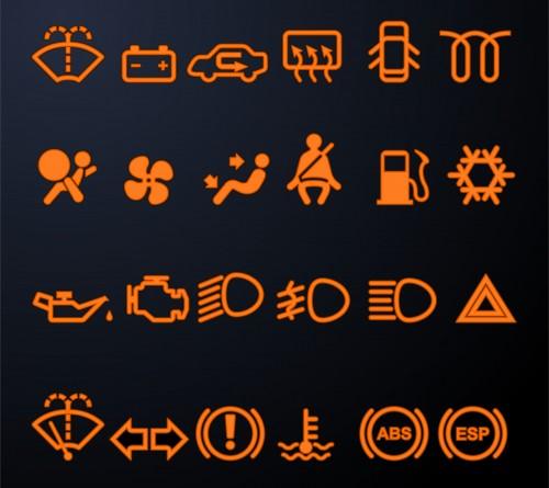 車の警告灯