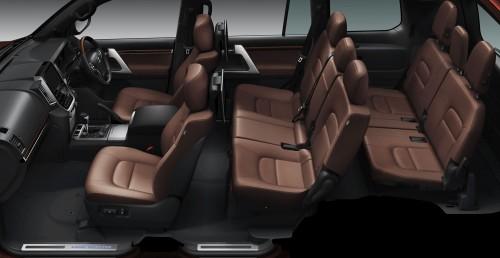 ランドクルーザーZX のシート (内装色:ブラウン) 〈オプション装着車〉