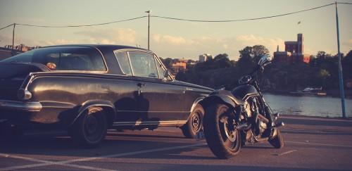 車とバイク イラスト