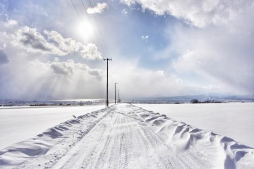 雪道 冬の道
