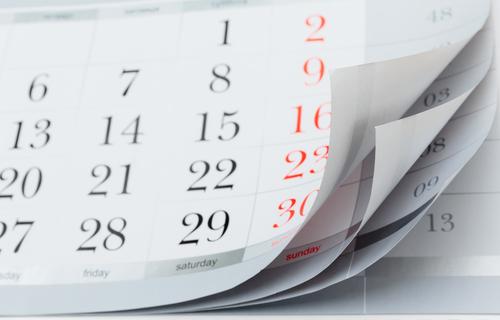 カレンダー 日程 発売日