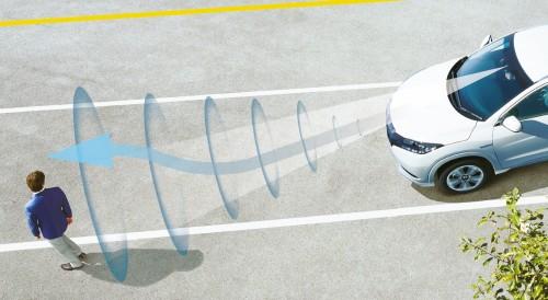 ホンダ ヴェゼル Honda SENSING 歩行者事故低減ステアリング 作動イメージ