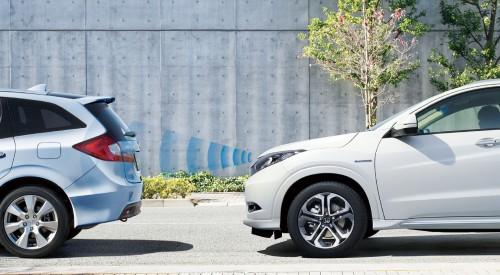 ホンダ ヴェゼル Honda SENSING 誤発進抑制機能 作動イメージ