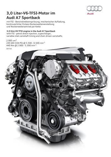 アウディ A7 3.0 litre V6 TFSI エンジン