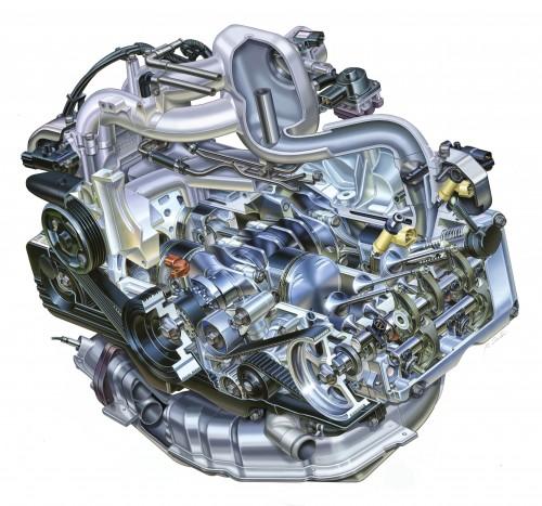 EJ20型 エンジン イラスト