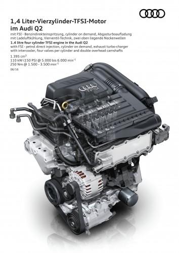 アウディ Q2 2017年型 ヨーロッパ仕様 エンジン