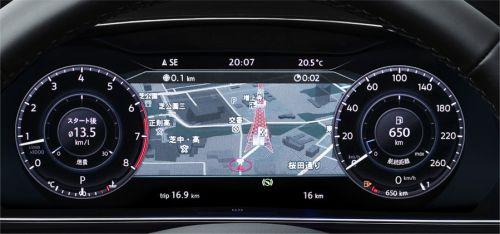 """フォルクスワーゲン ゴルフ オールトラック TSI 4MOTION デジタルメータークラスター""""Active Info Display"""""""