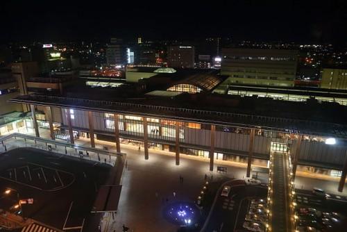 長野駅善光寺口の夜景