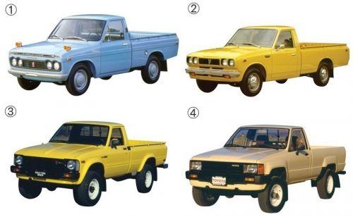 トヨタ ハイラックス 歴代モデル 初代 2代目 3代目 4代目