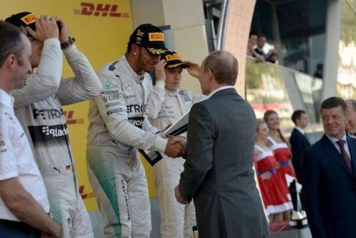 2014 ロシアGP表彰式