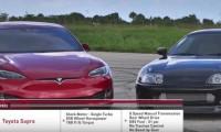 【動画】トヨタ スープラvsテスラ モデルSがゼロ加速&80km/h加速対決!勝ったのは……