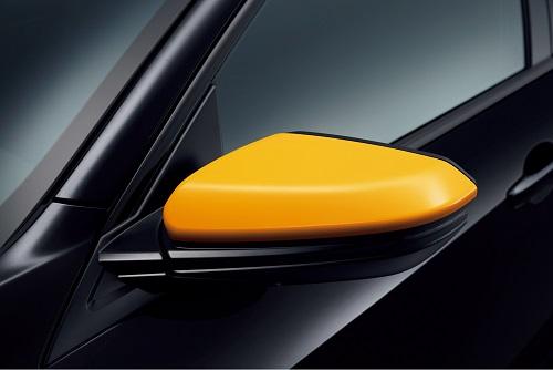 ドアミラーカバー(オレンジ/左右セット)Excite Sporty for HATCHBACK 新型シビックハッチバッグ