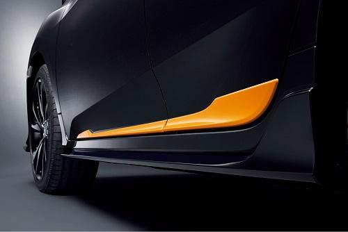 ドアロアガーニッシュ(オレンジ/フロント・リア用左右4枚セット) Excite Sporty for HATCHBACK 新型シビックハッチバッグ